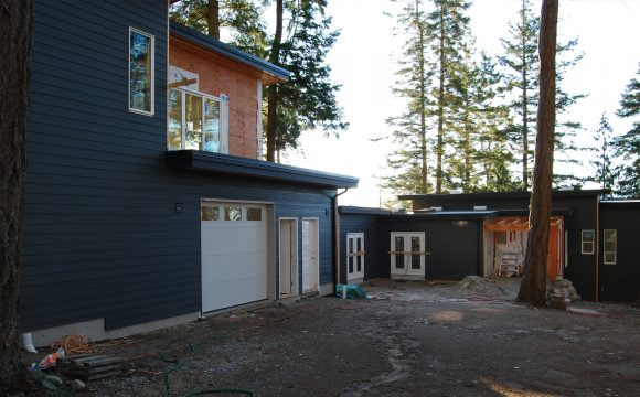 Making great progress on Powell River Waterfront House + Studio