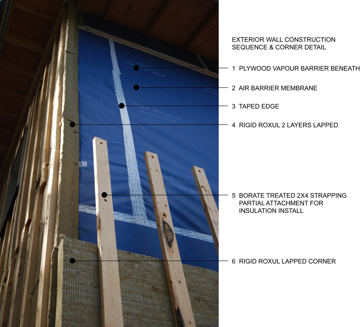 Air Barrier Membrane : Sandrin leung architecture passive house langley wall